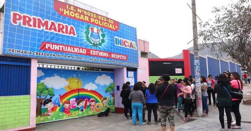 MINEDU garantiza continuidad de clases en colegio de Villa María del Triunfo - www.minedu.gob.pe