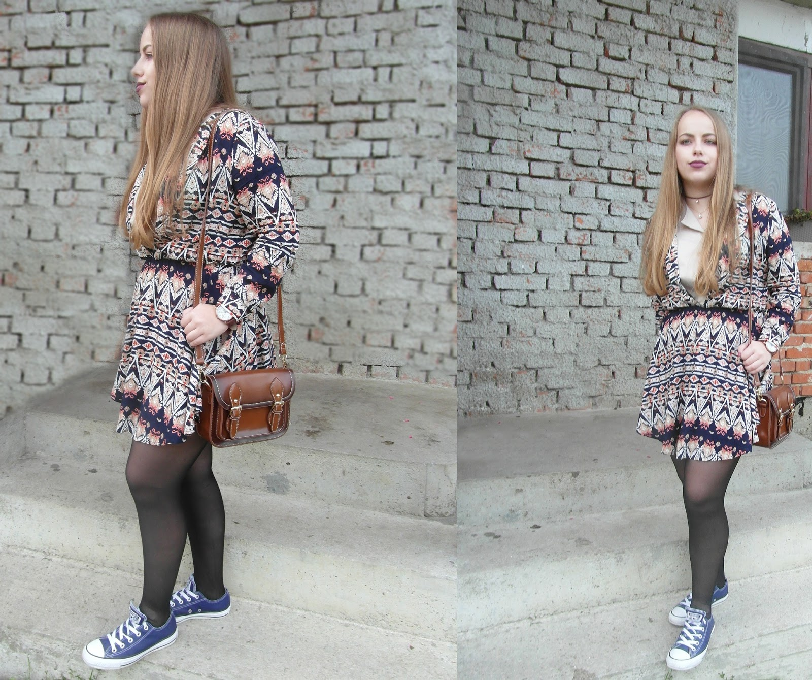 OOTD #1 [Autumn Geometric Dress]