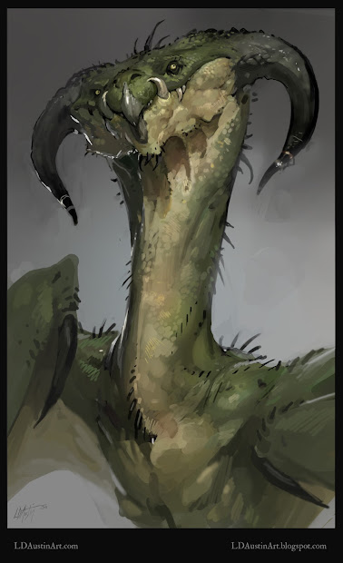 Green Dragon Concept Art
