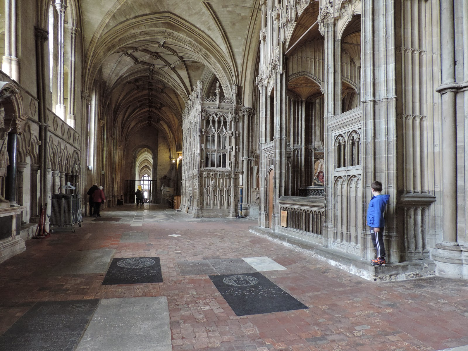 medieval stonework in winchester historic cathedral