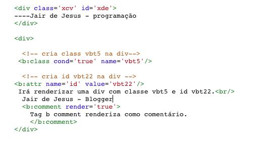 Foto de códigos de entrada Blogger b class e  attr.