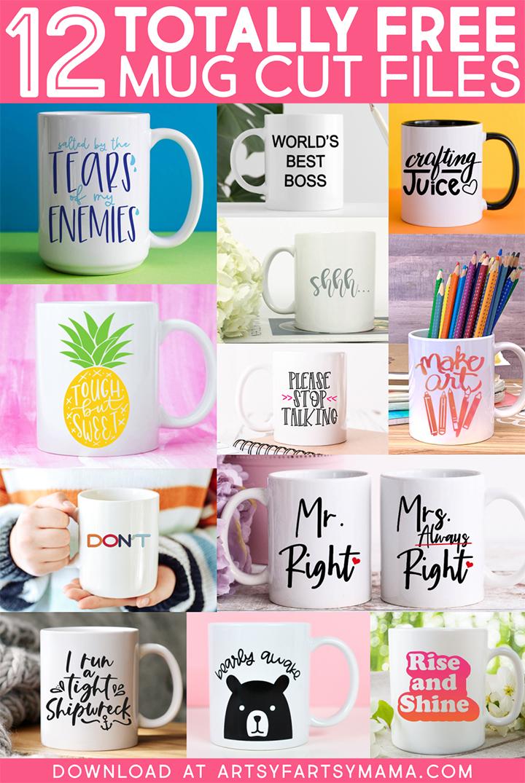 12 Free Mug Cut Files