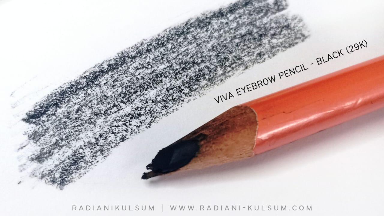 viva eyebrow pencil - black