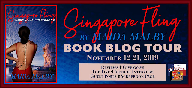Singapore Fling book blog tour promotion banner