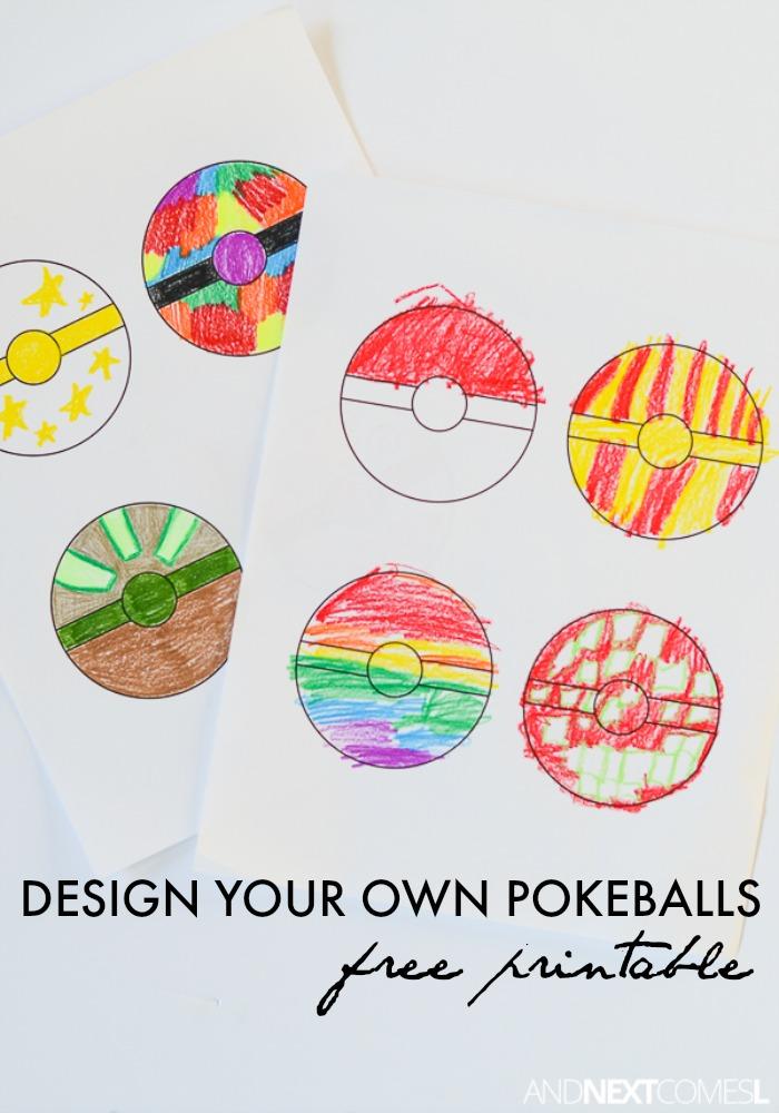 Free Printable Pokeballs Coloring Sheet for Kids | And ...