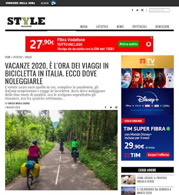 style magazine italia cicloturismo bike rental veloce bicicletta vacanze 2020 coronavirus covi-19