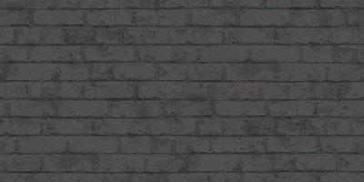 czarna tapeta 3d, winylowe cegły