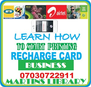 How to start recharge card printing business in nigeria get how to start recharge card printing business in nigeria get software and manual colourmoves