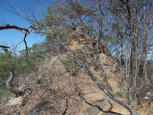 露岩の尾根
