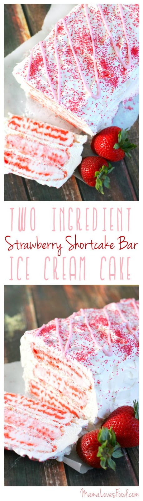 strawberry shortcake ice cream cake food strawberry shortcake bar cake 7772