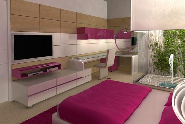 Dormitorio juvenil fucsia y blanco - Dormitorios juveniles blancos ...