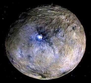 Titik area cahaya yang masih misterius pada planet kerdil ceres / dwarf planet