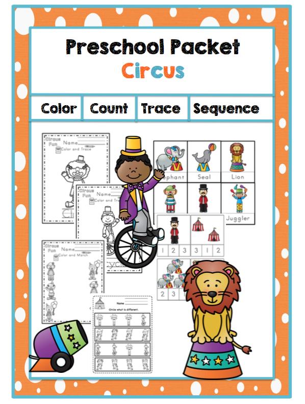 Preschool Packet Circus ~ Preschool Printables