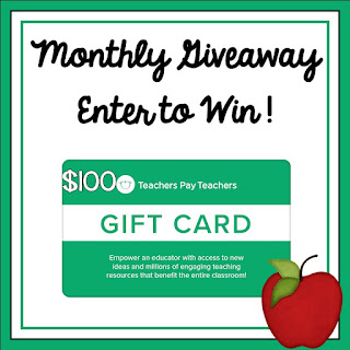 #giveaway Enter to win $100 from TpT
