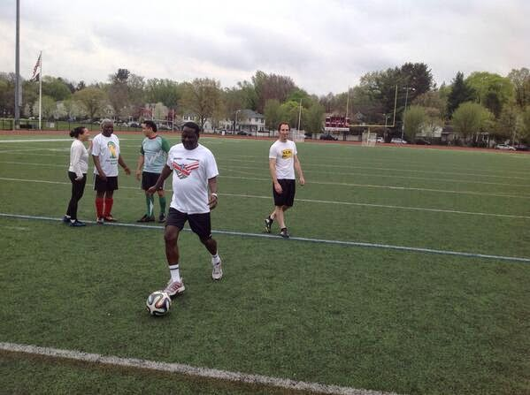 raila playing football