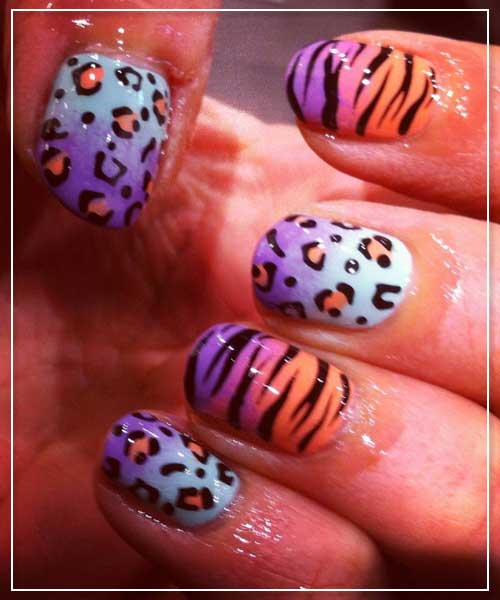 Mix and Match Animal Nail Designs