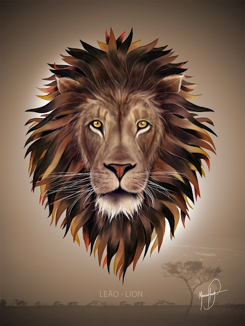 LEÃO - LION / ART DIGITAL -  MAURÍCIO FORTUNATO ARAÚJO