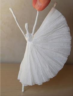 Tissue Paper Ballerina, Diy Tissue Paper, Paper Ballerina, Diy Ballerina, Tissue Paper Tutorials, Diy Paper Crafts, Paper Ballerina Tutorial, Paper Diys, Thick Tissue Paper