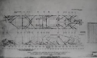 Diagram of interior layout of an assault glider.
