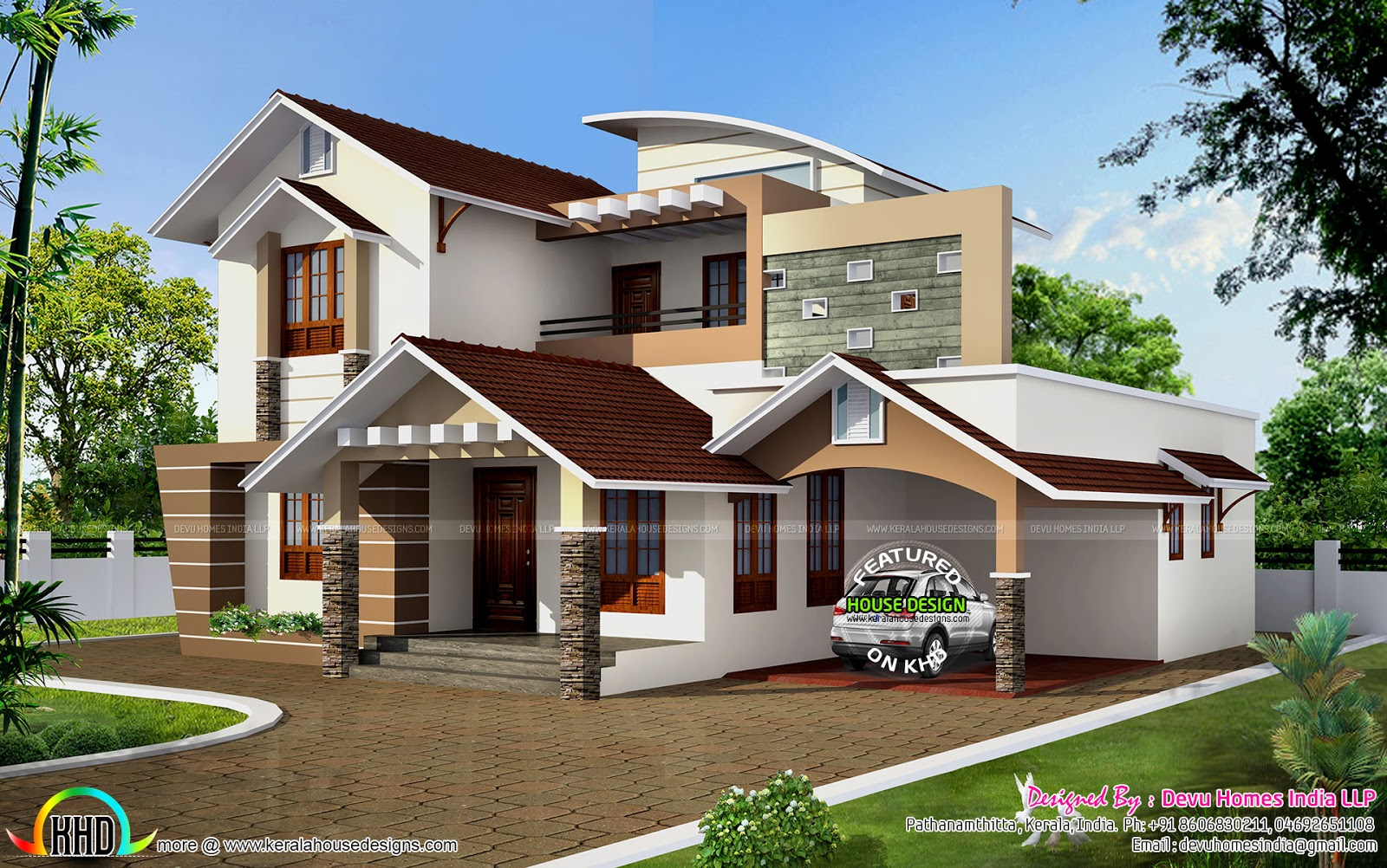 South facing vastu home in 2448 sq ft kerala home design and floor plans Home design and vastu