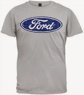 Vintage Distressed Ford Logo T-shirt for Men