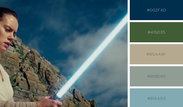 Paleta de cores do filme Star Wars - Os Últimos Jedi