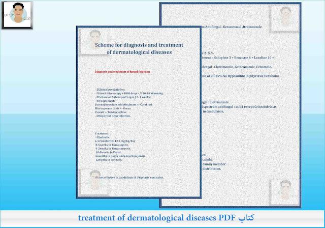 كتاب treatment of dermatological diseases PDF