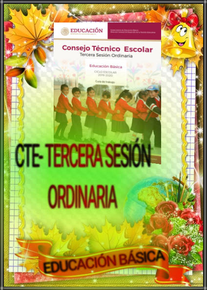 CTE-3ra. SESIÓN ORDINARIA-GUÍA DE TRABAJO-EDUCACIÓN BÁSICA
