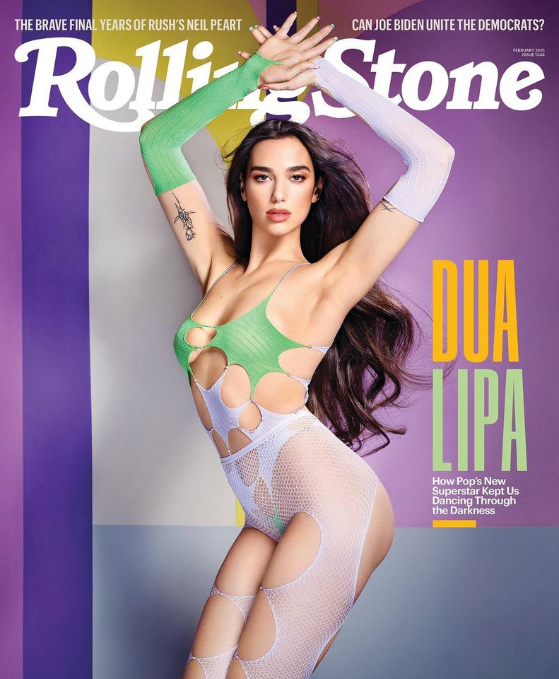 Dua Lipa wears next to nothing piece for Rolling Stone US Feb 2021