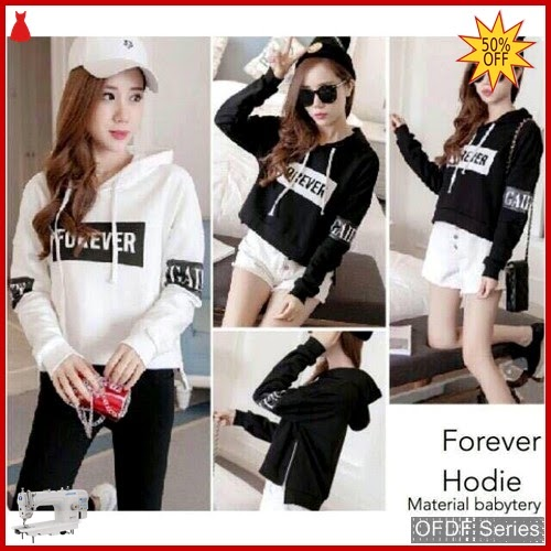 OFDF272 Atasan Blouse Forever Hoodie 2w Modis BMGShop