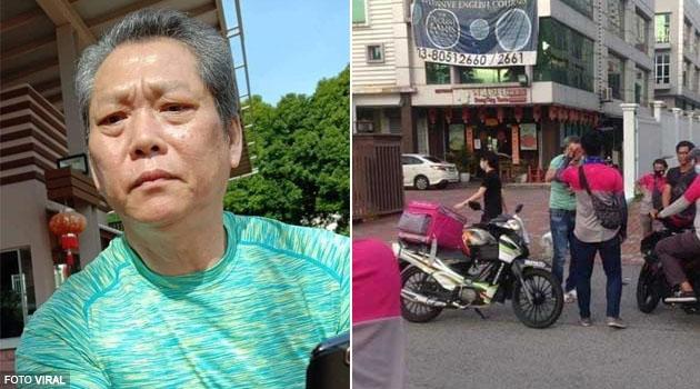 8 individu didakwa mengugut & menendang warga emas yang menyerang Rider (wanita) Food Panda