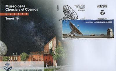 museo, sobre, sello, Ciencia, Cosmos, Tenerife