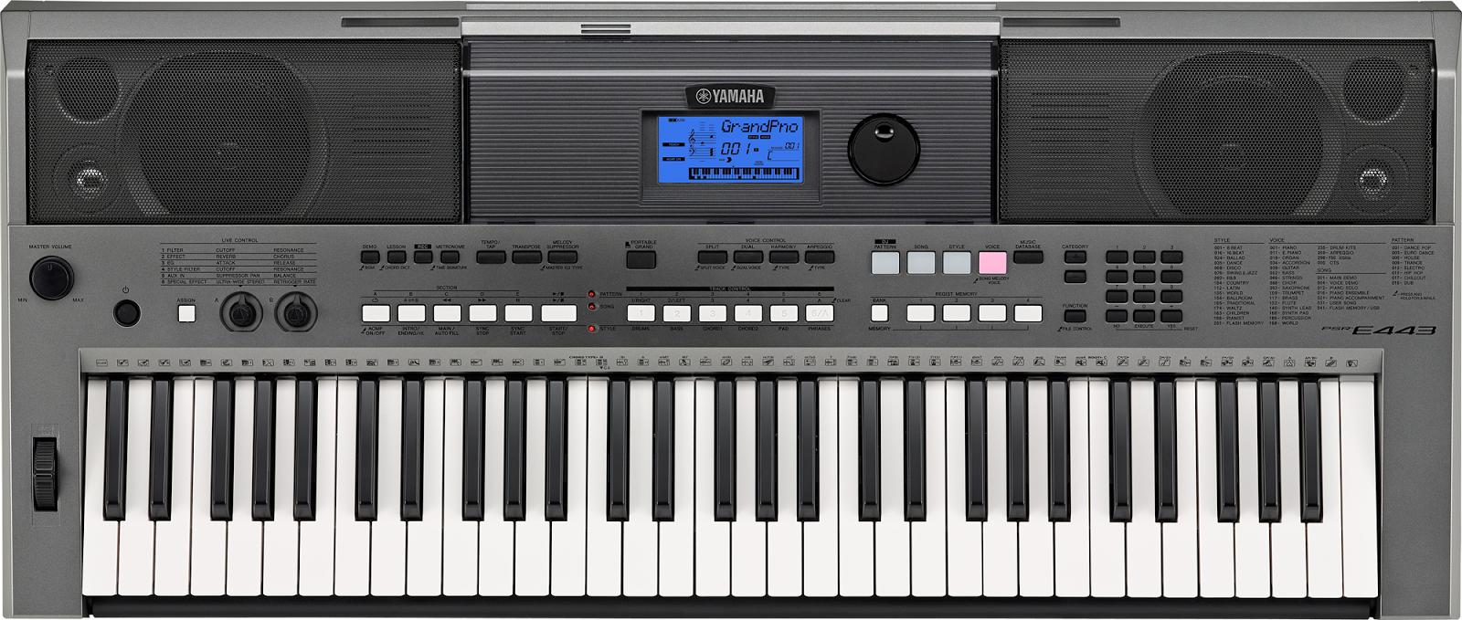 dan Organ Yamaha Psr E443