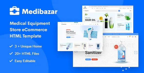 Best Medical Equipment Store eCommerce Template