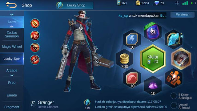 Skin ML gratis permanen - lucky spin