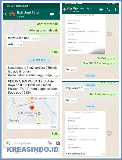 Repeat Order Kawat Nyamuk Aluminium Bpk Joni di Tajur Bogor