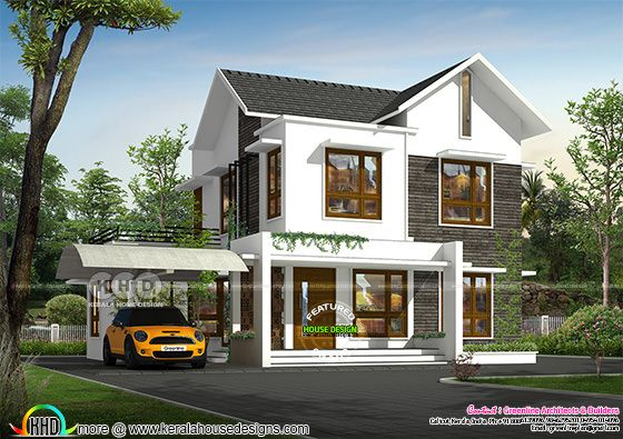 Modern style small double storied home