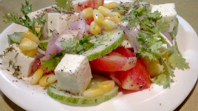 Quick Veg Paneer Salad Recipe in 10 minutes