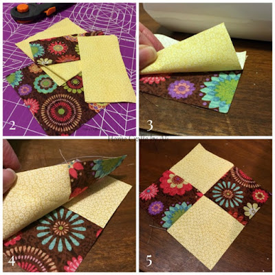 sewing tutorial easy coasters TSNEM DIY fabric