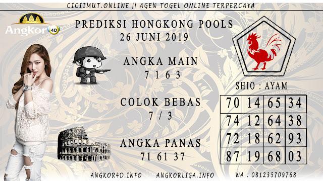 PREDIKSI HONGKONG POOLS 26 JUNI 2019