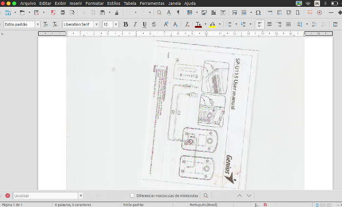 digitalizar imagens e documentos como writer do libreoffice