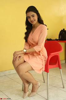 Rukshar Mir in a Peachy Deep Neck Short Dress 019.JPG
