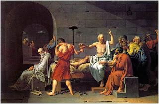 سقراط يتجرع سم الشوكران