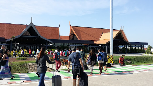 Terminal de llegadas internacionales en el aeropuerto de Siem Reap