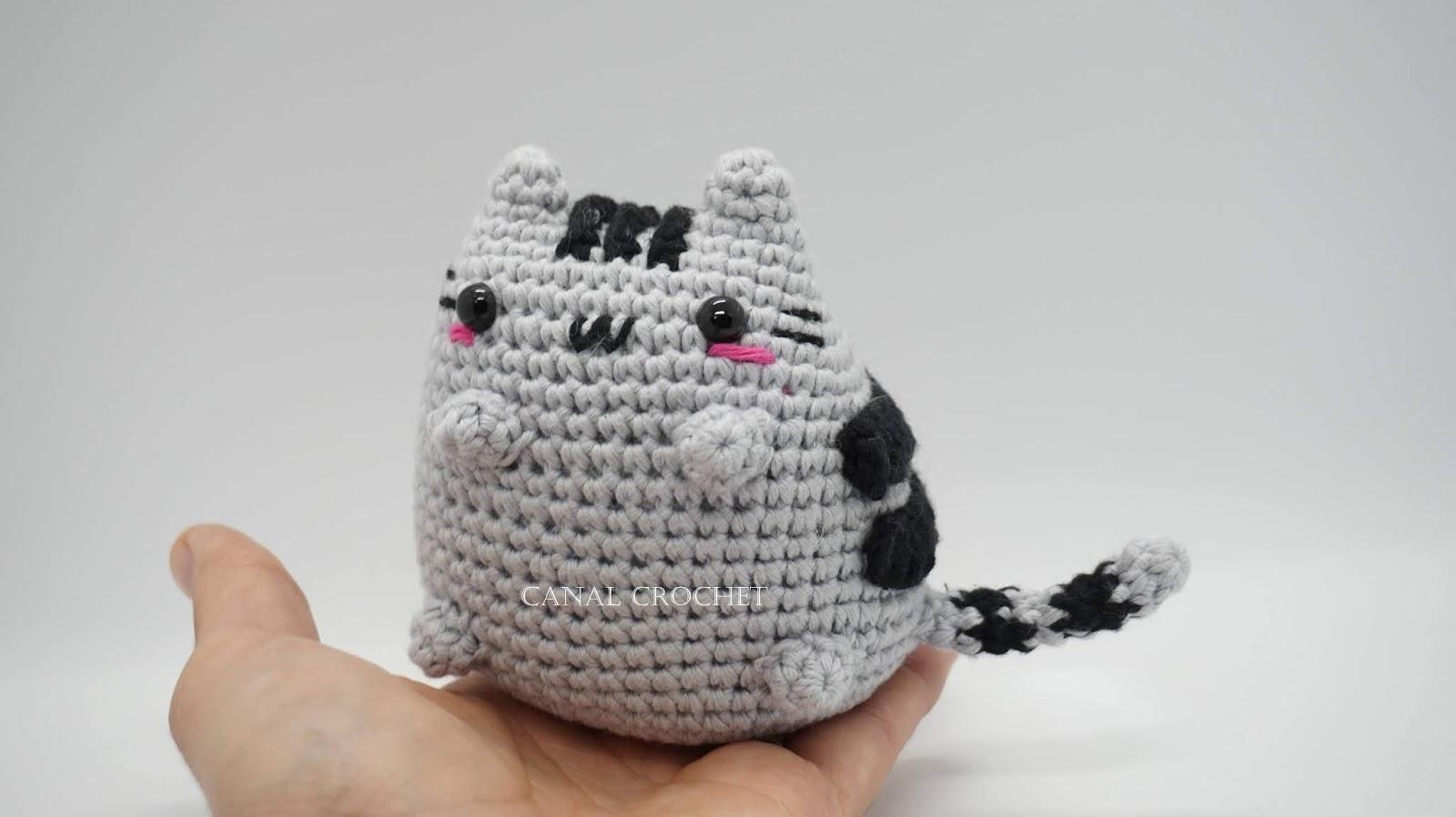CANAL CROCHET: Gato kawaii amigurumi tutorial