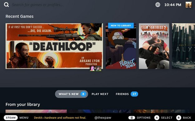 This is what the new Steam interface will look like on TVs and Steam Deck