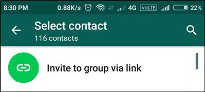 Invite to group via link