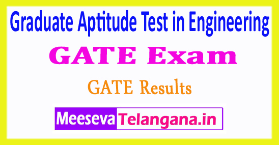 Graduate Aptitude Test in Engineering GATE 2018 Results Rank Card Cut Off Marks  Merit List
