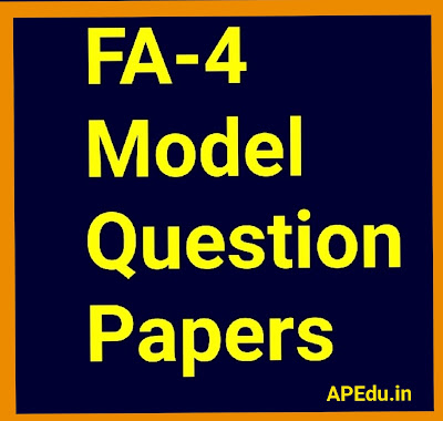 FA-4 Model Question Papers 2019-20.