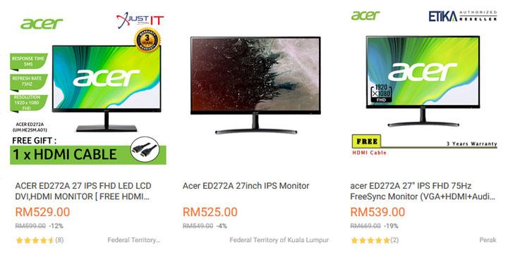 Acer 27inch FHD Monitor - Lazada